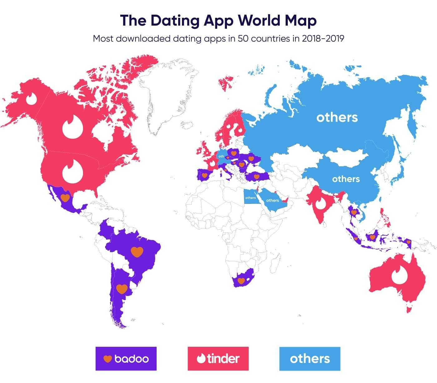 Most popular online dating apps map