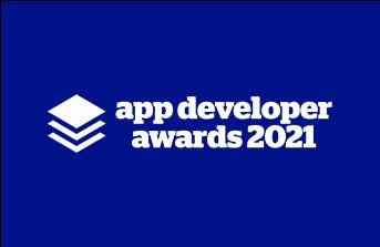 App Developer Awards on Blue Background