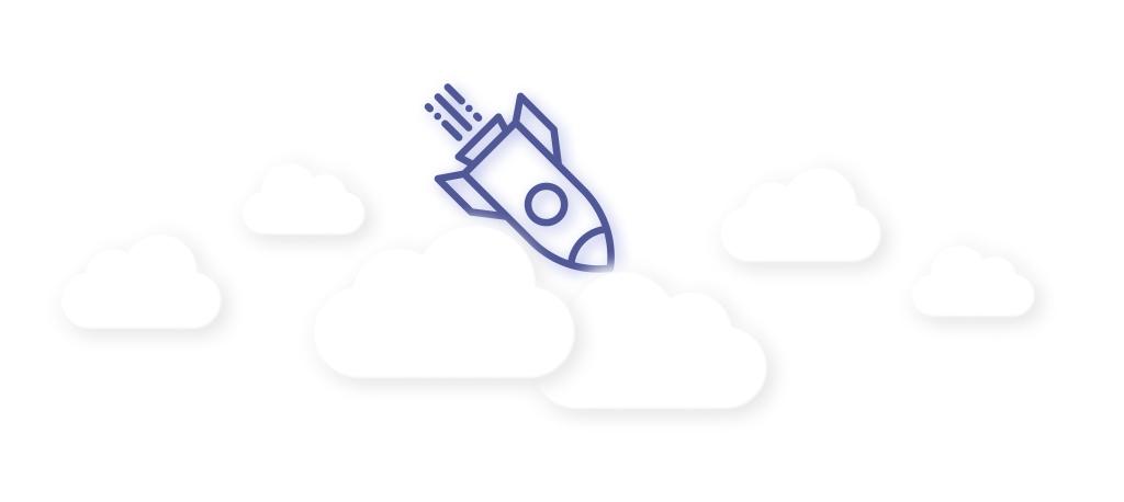 An Image Of Falling Rocket