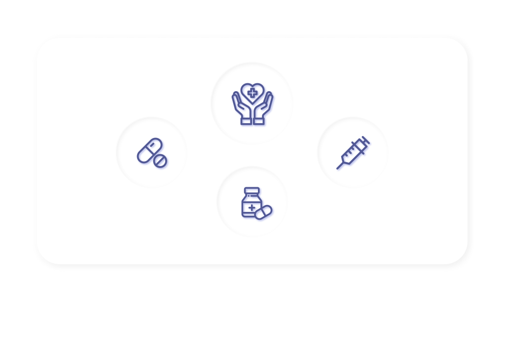 Icons of Elements Of Benefits of Healthcare App