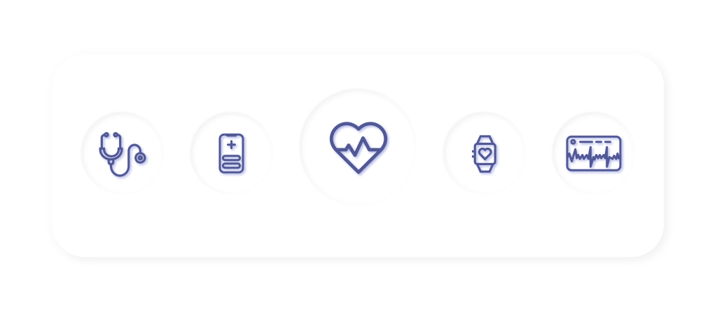 Icons Of Healthcare Mobile App Features