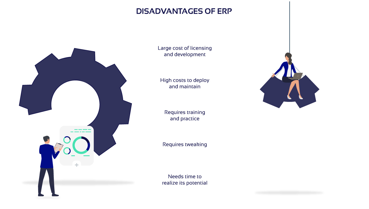 Disadvantages of ERP diagram