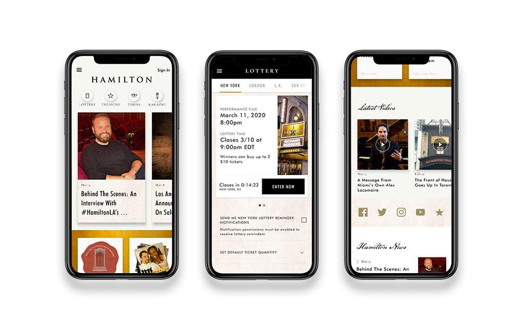Hamilton Flutter app
