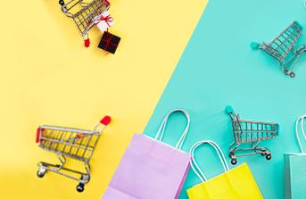 Shopping bags and carts for Letgo design