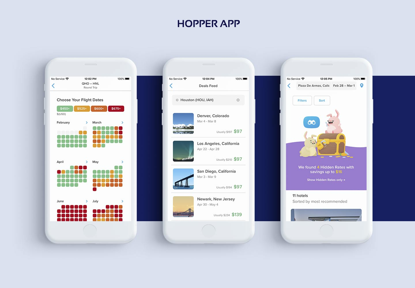 Screenshots of AI-Based Hopper app