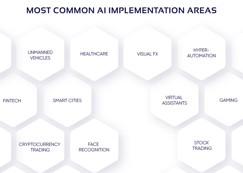 Areas of AI implementation