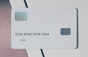 Bank card with a chip