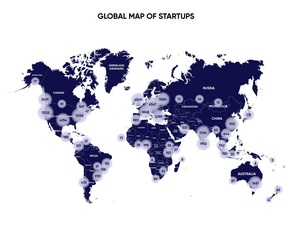 Map of startups 2020