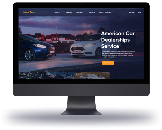 Interfaces of web and mobile apps for car deals