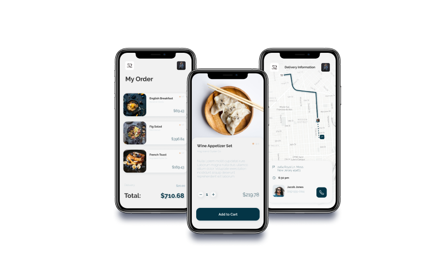 View a restaurant reservations cross platform mobile application