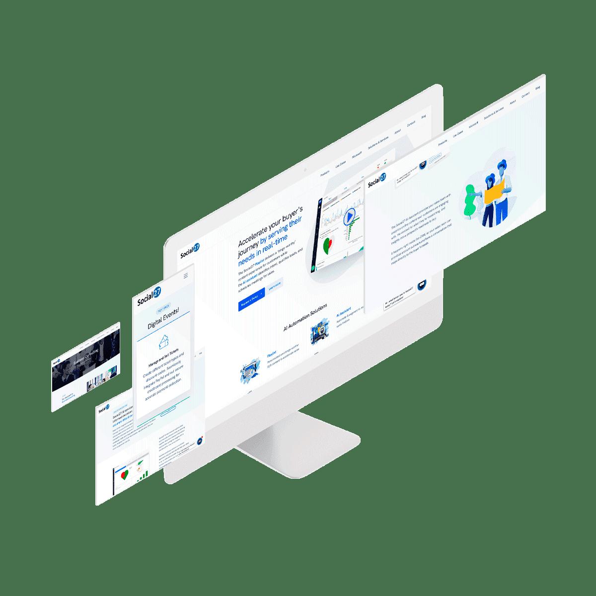 Social learning platform on monitors