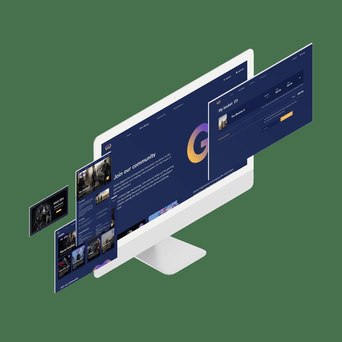 Game platform design on monitor