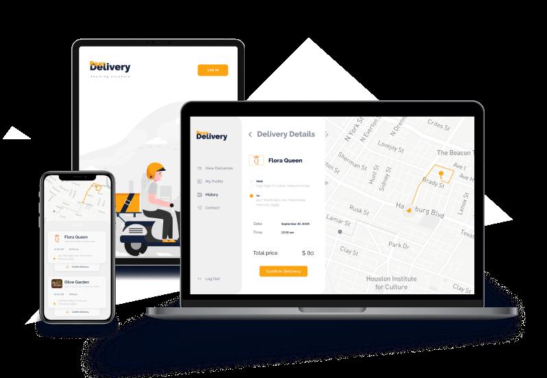 Delivery service design mockup