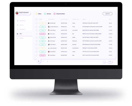 Interface of an advanced marketplace for retail