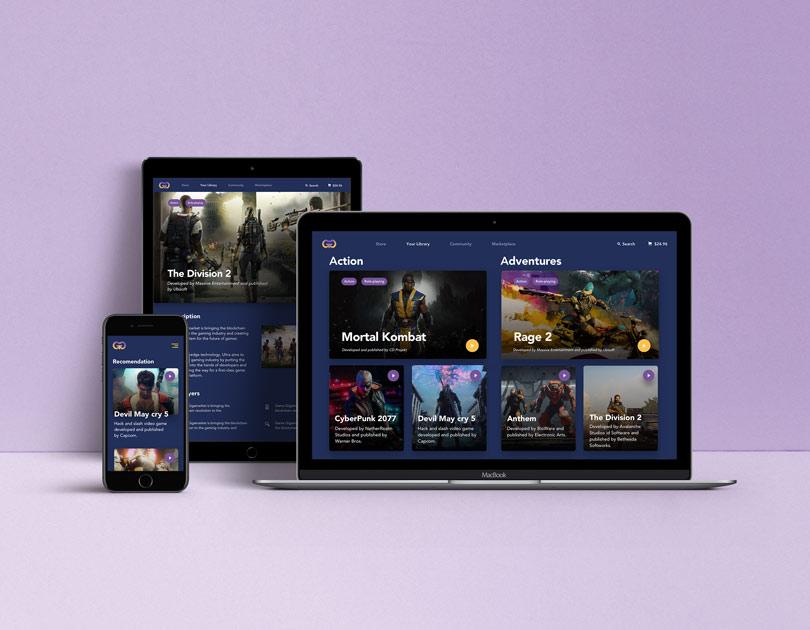 Game platform visualization on desktop