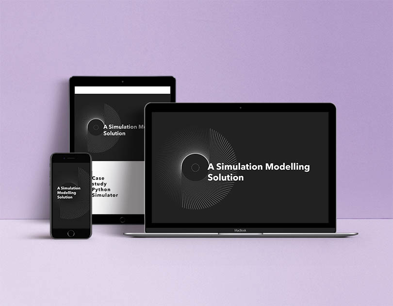 Visualization of simulation modelling on different devices