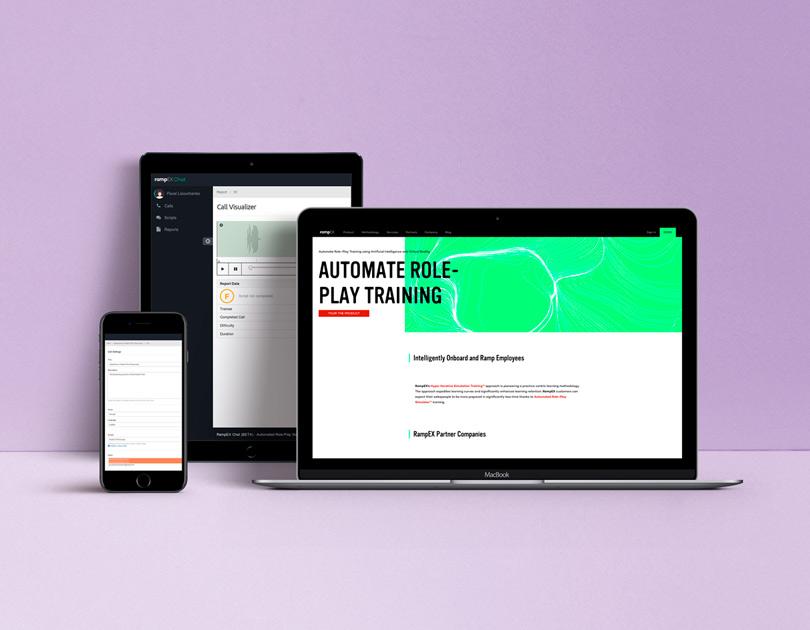 RampEX Chat website visualization