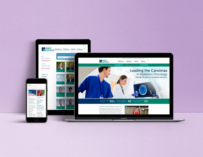 Treat Cancer website design