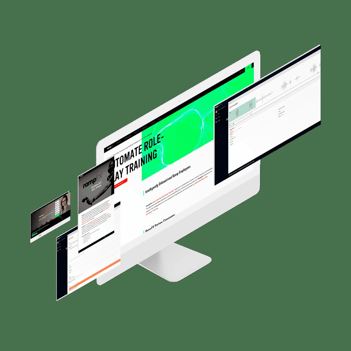 RampEX Chat website mockups