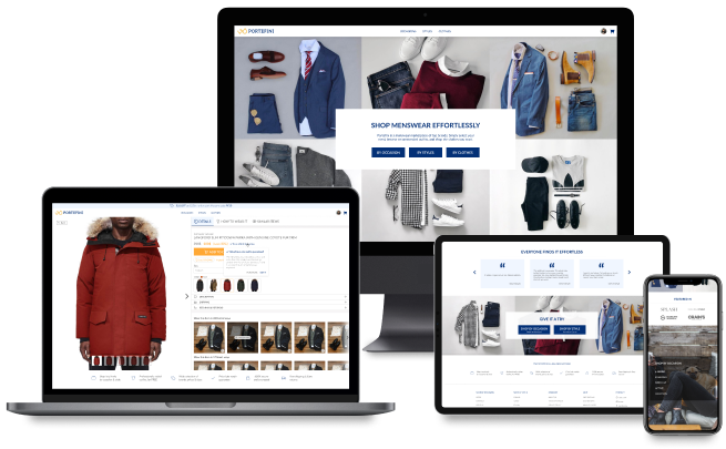 Interface of a clothes marketplace 1