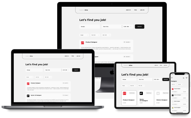 Design of web and mobile apps for job portal 1